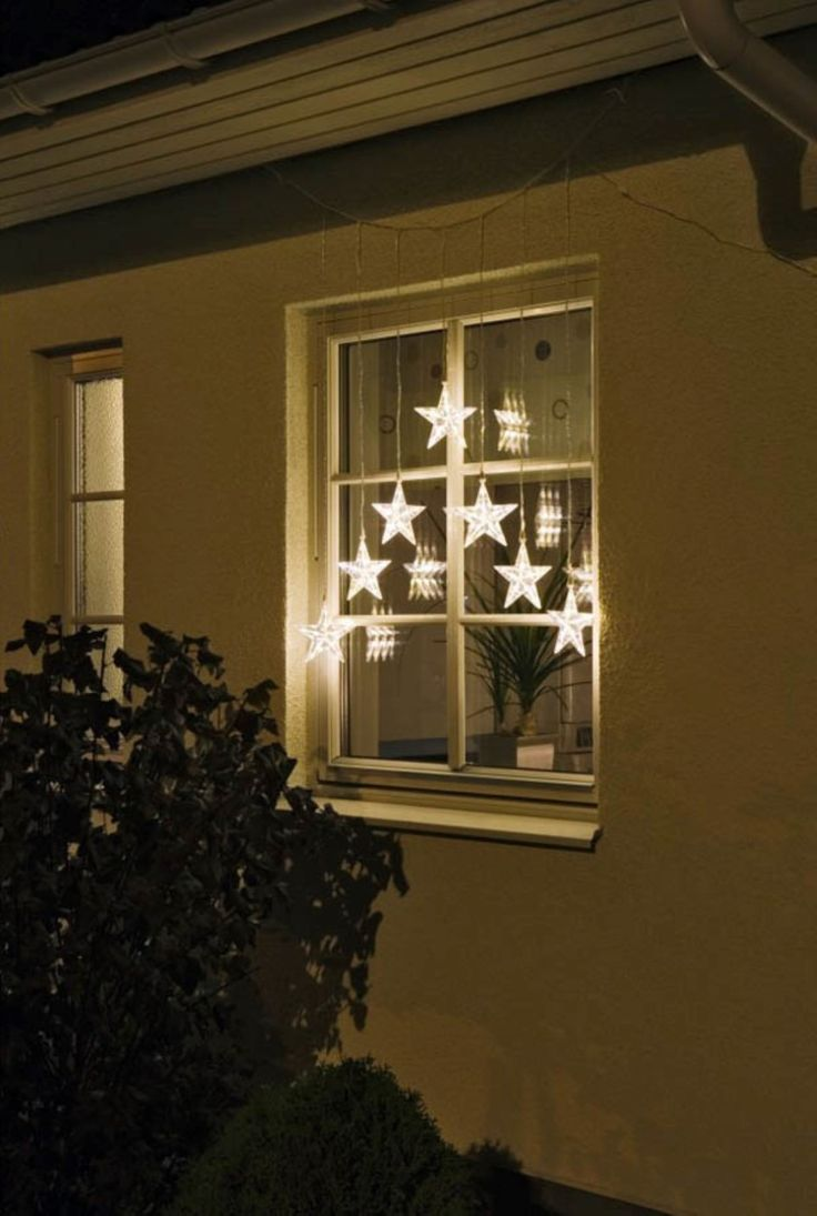 Christmas star window decoration light for 17 clear lighted star christmas window silhouette decoration