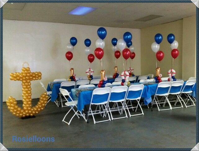 15 best images about under the sea balloon decor on for Anchor balloon decoration
