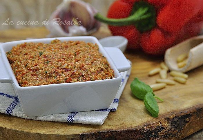 pesto di peperoni | ricetta la cucina di rosalba