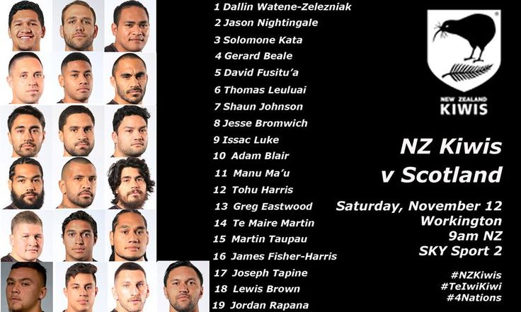 Four Kiwis debutants named for Four Nations clash with Scotland on Saturday morning.