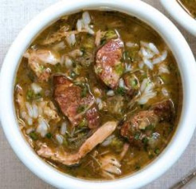 Day-After-Thanksgiving Turkey and Sausage Gumbo