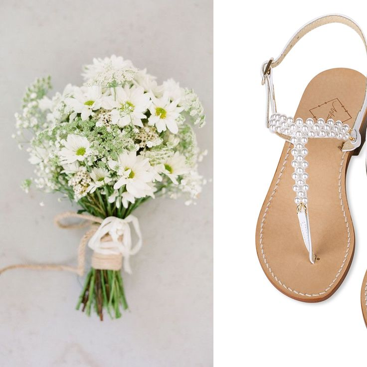 Mother's Day gift idea! Pearl sandals in white leather. Available in flats or with a little 2cm heel. Worldwide shipping.  #ankalia #whitesandals #pearlsandals