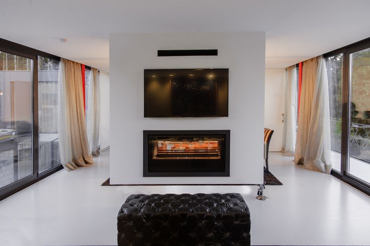 Las 25 mejores ideas sobre chimenea de doble cara en for Salones con chimeneas electricas