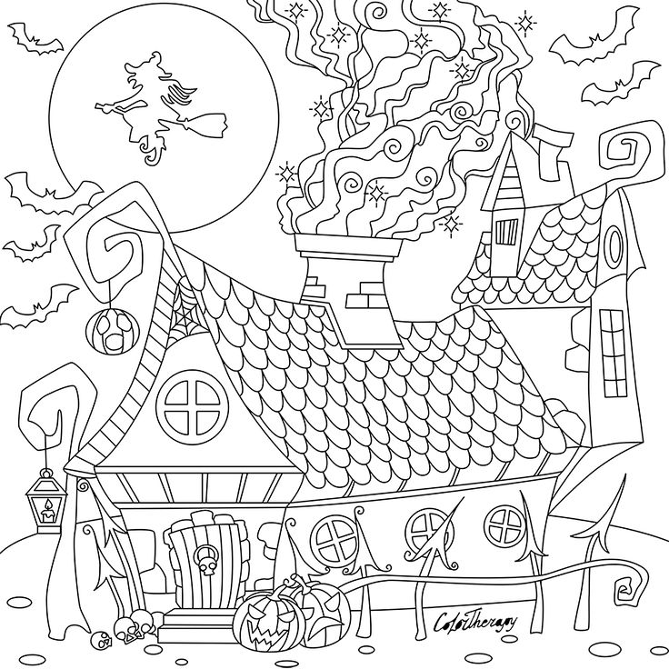 PThe sneak peek for the next Gift of The Day tomorrow. Do you like this one? #witches #house ••••••••••• Don't forget to check it out tomorrow and show us your creative ideas, color with Color Therapy: http://www.apple.co/1Mgt7E5 ••••••••••• #happycoloring #giftoftheday #gotd #colortherapyapp #coloring #adultcoloringbook #adultcolouringbook #colorfy #colorfyapp #recolor #recolorapp #coloring #coloringmasterpiece #coloringbook #coloringforadults