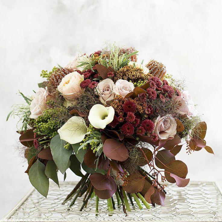 """Большой букет """"Дымчатый топаз"""". Плотный, объемный букет, собранный из дымчатых и персиковых садовых роз, белоснежной каллы, бордовой хризантемы, харизматичного нутана, грациозной брунии, разнообразной по цвету и фактуре листвы, воплощает всю красоту оттенков топаза. Такой букет можно преподнести в знак долгой и крепкой дружбы, выдержавшей многие испытания судьбы.  #giveaway #букет #доставка #букетбутик #flowers #bouquet #buketbutik_ru #buketbutikru #weddingbouquet #букетневесты…"""