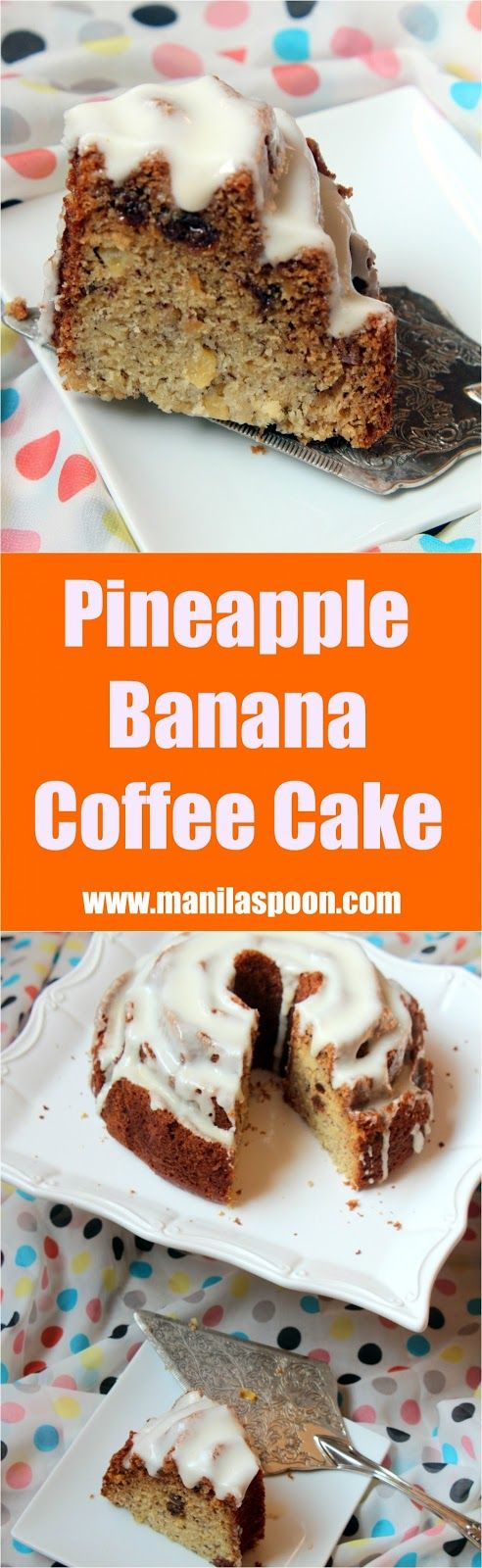 Bursting with tropical flavors from bananas and pineapples this cake is delicious and super moist! Perfect with your coffee or tea. | manilaspoon.com