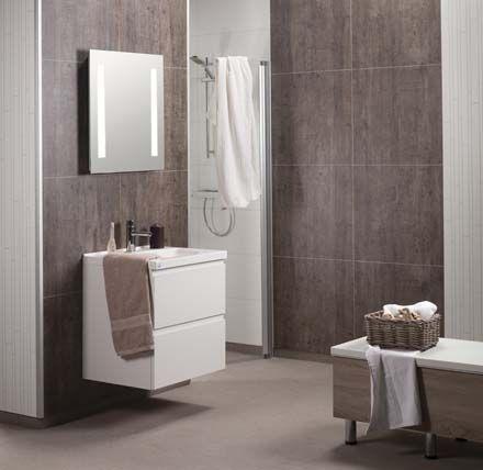 Fibo-Trespo -märkätilalevylla uudistat kylpyhuoneen seinät päivässä. www.k-rauta.fi Fibo-Trespo boards for bathroom.