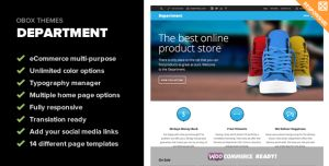 Department – A multi-purpose eCommerce and business theme designed for those who sell fun and exciting products.  See more at:  www.WPtized.com