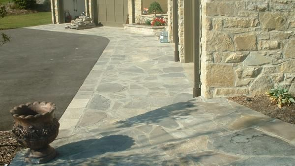 Asphalt Driveway With Banding To Walkway Smooth