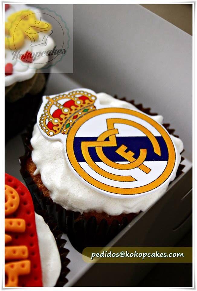 Real Madrid cupcakes.