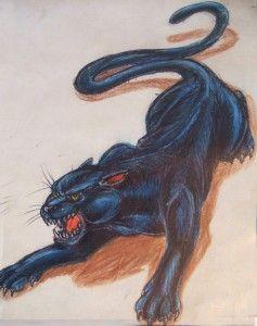 Эскизы тату пантера  | ТриТатушки