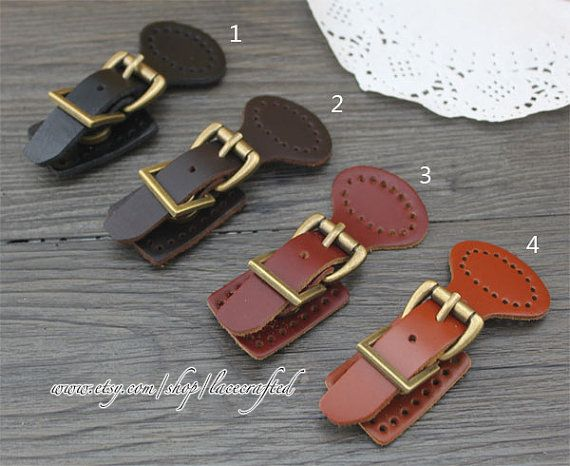 1set Real Leather Buckles With Magnetic Snap ,Handbag Leather Buckle for Bag making