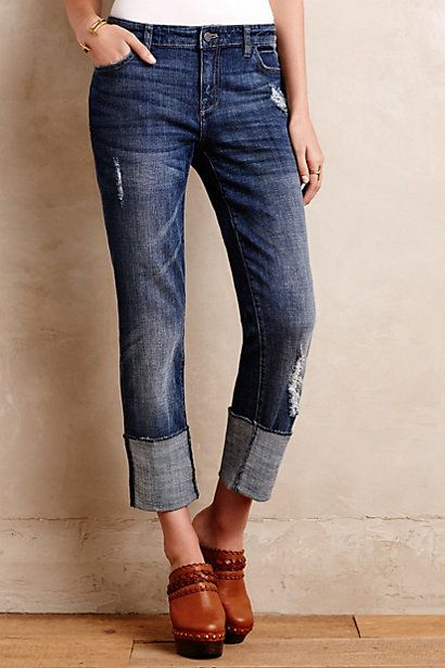 High Cuff Hyphen Cuffed Pilcro best feet   Anthropologie Jeans and Jeans  on Casual Looks jordans