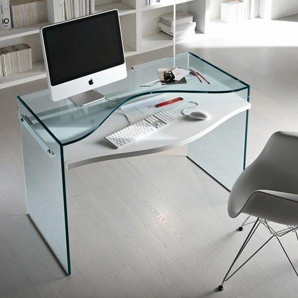 M s de 1000 ideas sobre escritorios de cristal en for Mesa escritorio cristal