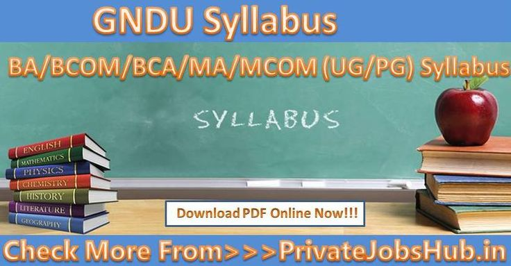 Guru Nanak Dev University has released GNDU Syllabus. Applicants who are going to appear for BA/BCOM/BCA/MA/MCOM (UG/PG) examination can download GNDU Syllabus from this page in PDF format-http://bit.ly/2t4DTLp