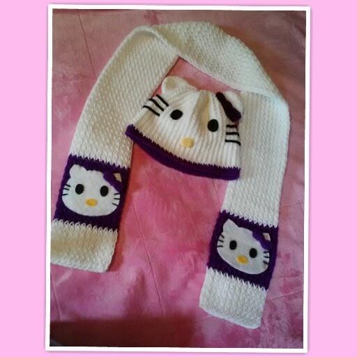Knitting Pattern Hello Kitty Hat : Hello Kitty loom knit hat & scarf My Craft, My Hobby Pinterest Loom...