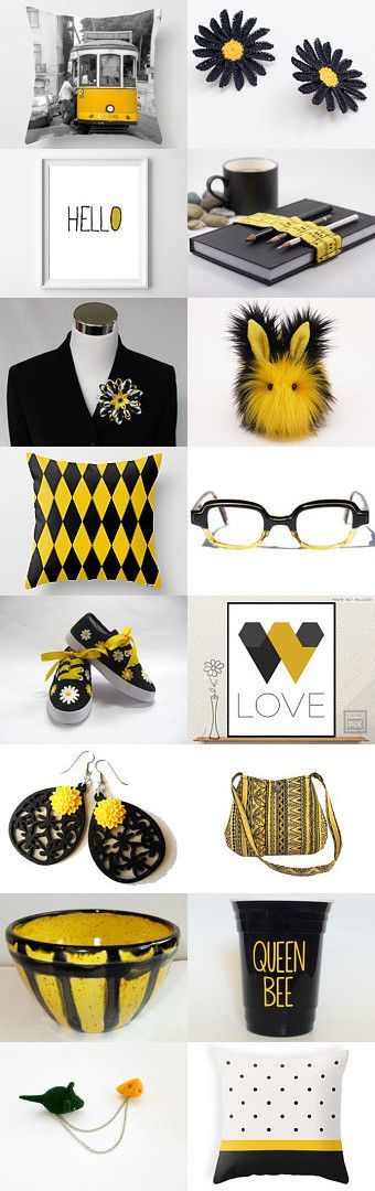 Black and yellow lovely gifts! by Teresa on Etsy