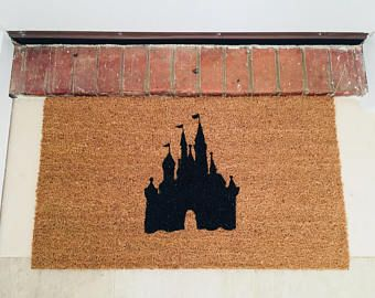 Let everyone know they are entering your Disney castle with this beautiful hand painted entrance mat.  Get yours - https://www.etsy.com/uk/listing/585509841/disney-castle-door-mat-doormat-disney?ref=shop_home_active_18