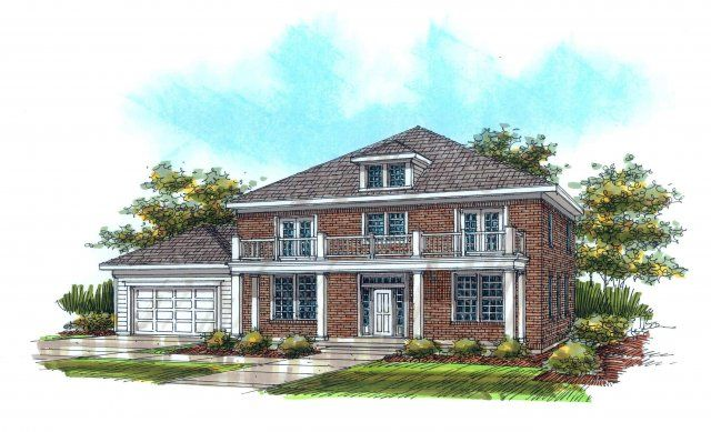 7 best colonial home plans images on pinterest colonial for Rainey homes