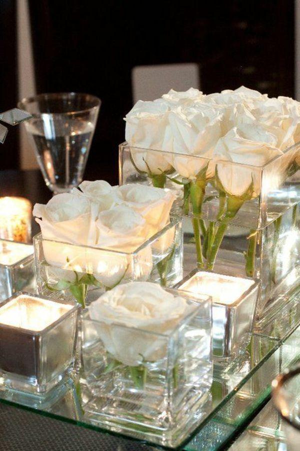 weisse rosen im glas google suche blumen hochzeit pinterest suche. Black Bedroom Furniture Sets. Home Design Ideas