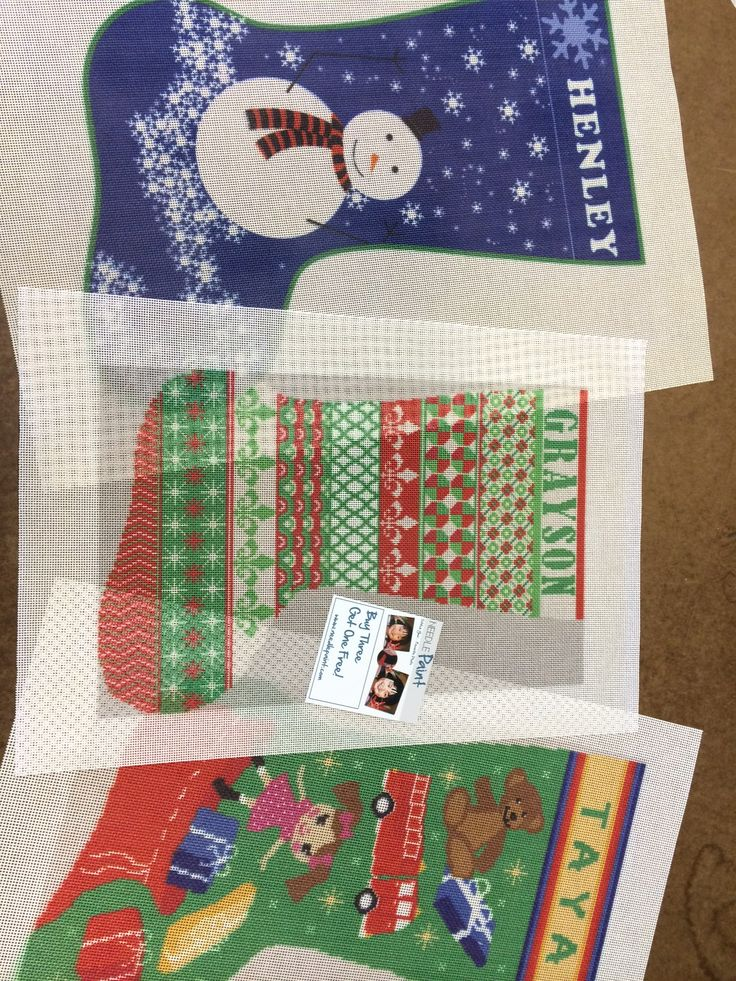 personalized needlepoint christmas stockings | NeedlePoint Kits and Canvas Designs