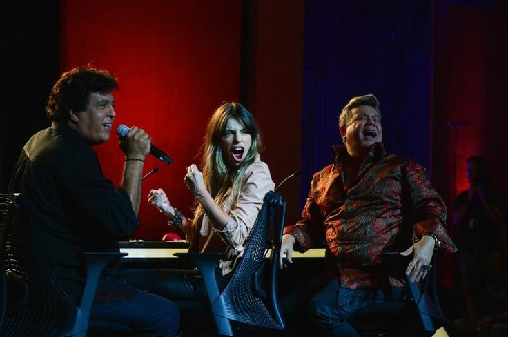 Jurados do Got Talent fazem caras e bocas na bancada do programa. Clique e veja as fotos http://r7.com/pkDM