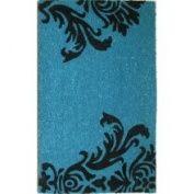 Oasis Cocoa Matting 'Neptune' Blue Door Mat (16 x 24)