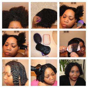 Faster Wash N Go's with Goody Brushes #naturalhair #ad #GoodyBrushEd