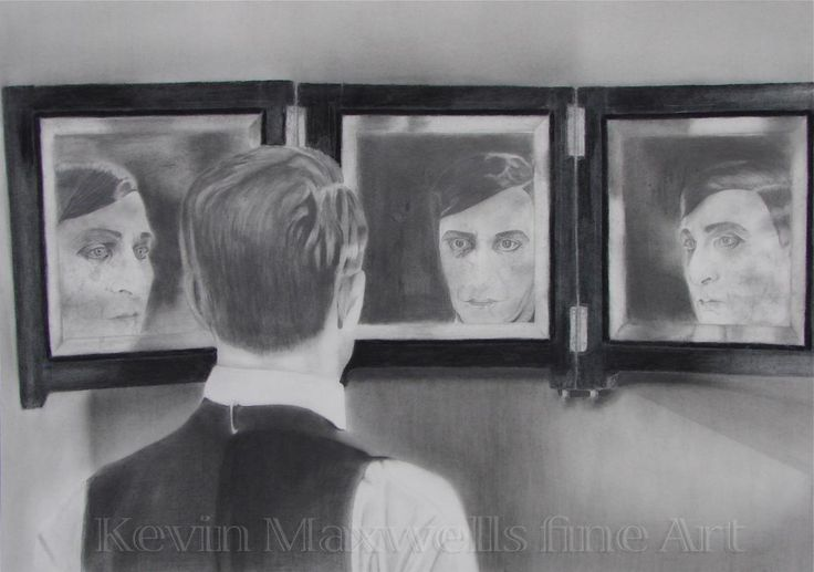 Self Portrait After BUSTER 56cm x 76cm Graphite, Chinagraph & Charcoal on paper $350 unframed