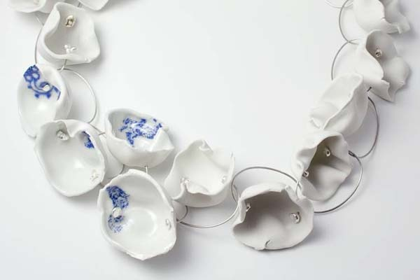 wabi-sabi ( philosophy where nothing is forever) necklace by Pia Pasalk