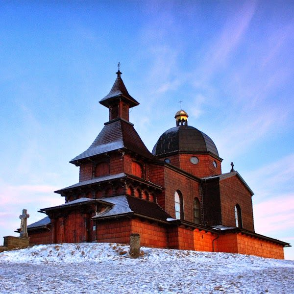 The chapel of St.Cyril and Methodius on the top of Radhošť hill in Beskydy mountains, Czechia