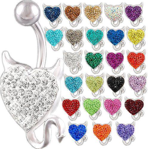 HEART-DEVIL-HORNS-TAIL-CRYSTAL-14G-1-6MM-STEEL-BELLY-RING-NAVEL-PIERCING-12MM