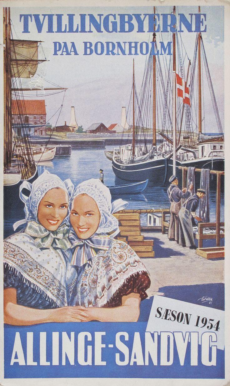 Tvillingebyerne Allinge-Sandvig på Bornholm 1954