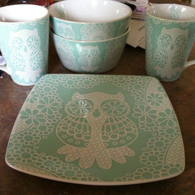 Lace Owl dishes by Roscher