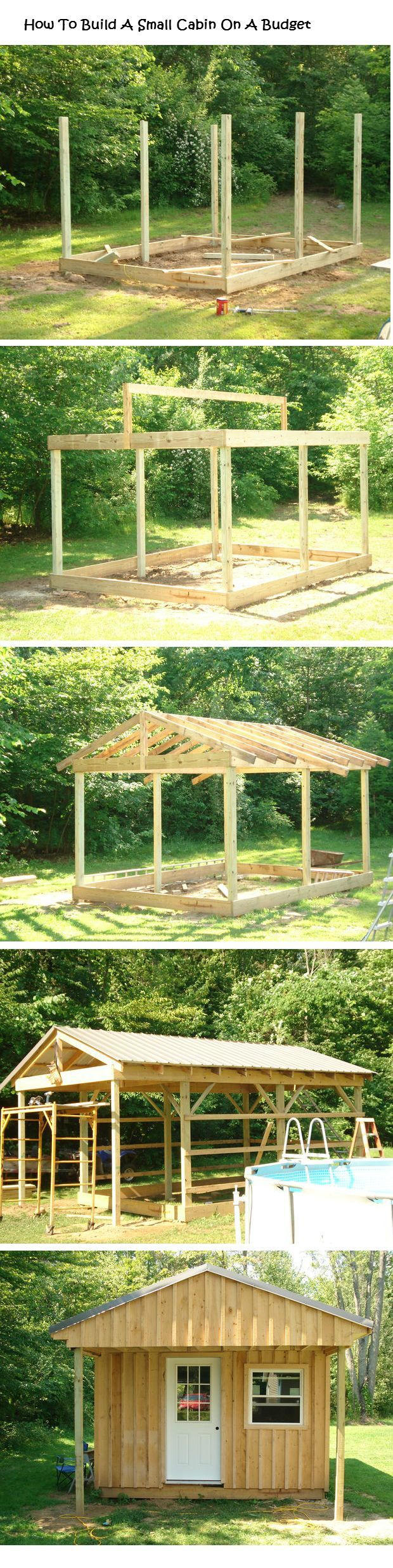 Now we just need a small strip of lakefront property! :D  -  How To Build a Small Cabin on a Budget