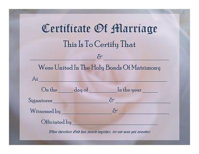 keepsake marriage certificate template all things