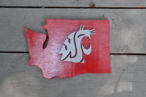 Washington State University Plaque by LewsPlaquesForYou on Etsy