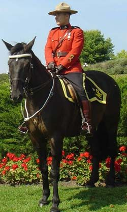 World-famous Canadian Mounted Police.