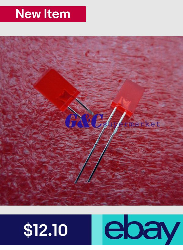 1000PCS 2x5x7mm Rectangle LED Red Colour Red Light Emitting Diode Good quality