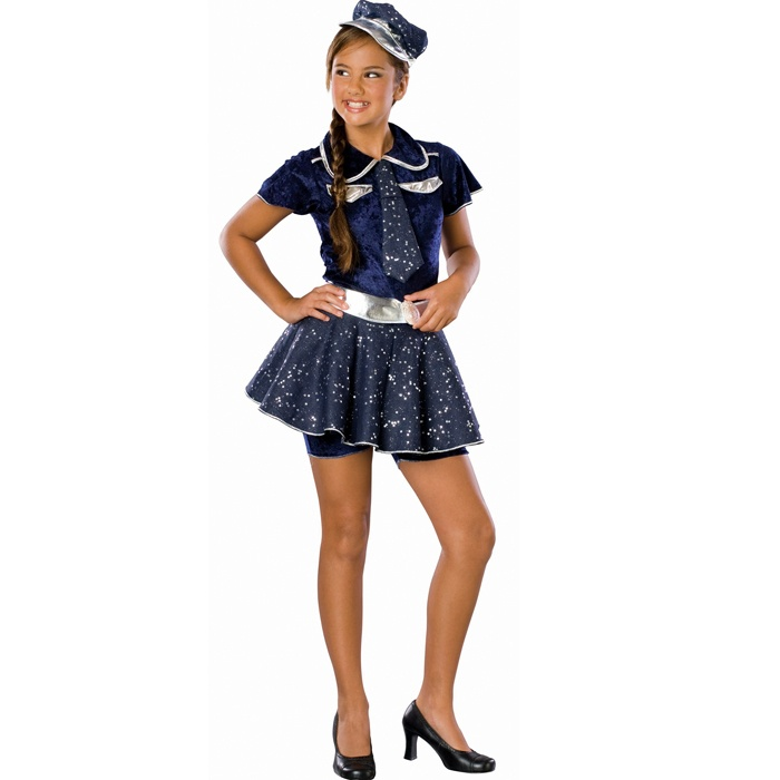 sparkly miniskirt cop costume for my daughter from iparty halloween costumes for