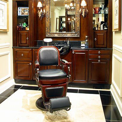 single barber chair room idea.