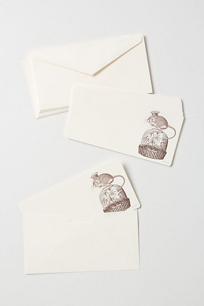 Monarch Mouse Note Cards #anthropologie