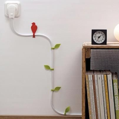 Turn ugly cable on the wall in a pretty decoration