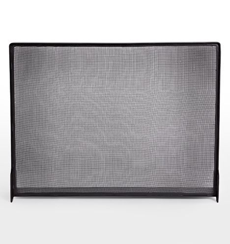 Industrial Fireplace Screen Iron Black E2046