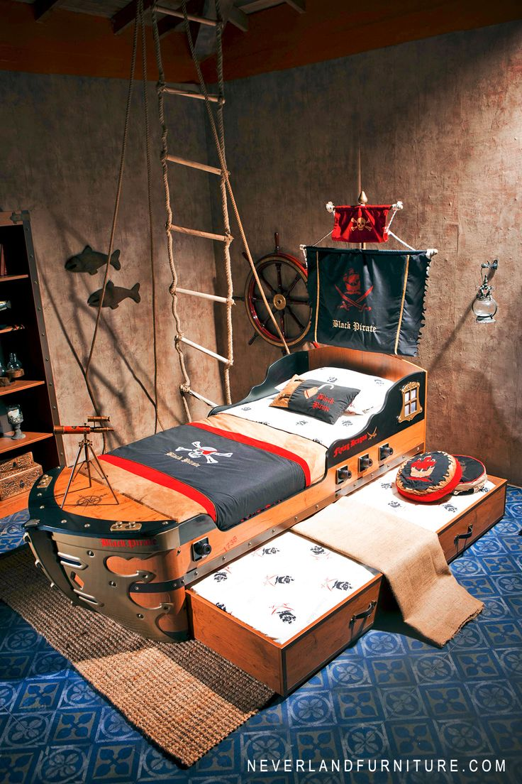 Little Boys Bedroom Furniture 17 Best Images About Black Pirate Gunboat Bed Little Boys