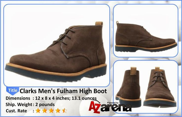 Clarks Men's Fulham High Boot | Dress pants and cords look more stylish when paired with the Clarks Fulham Hi men's boots. Nubuck was used to craft the upper of this men's boot. This men's boot has a lace-up closure to provide a secure fit.
