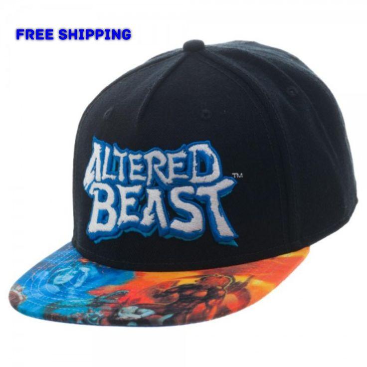 Sega Genesis Altered Beast Sublimated Bill Snapback Cap Hat Retro Classic Logo