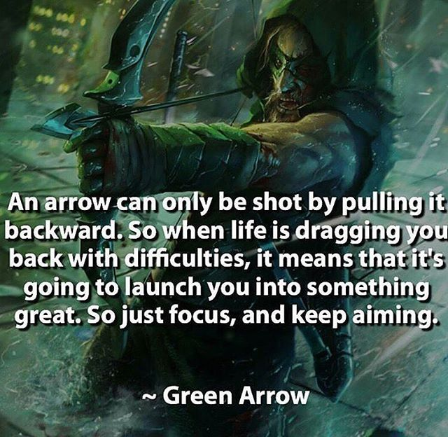 An Arrow Can Only Be Shot By Pulling It Backward When