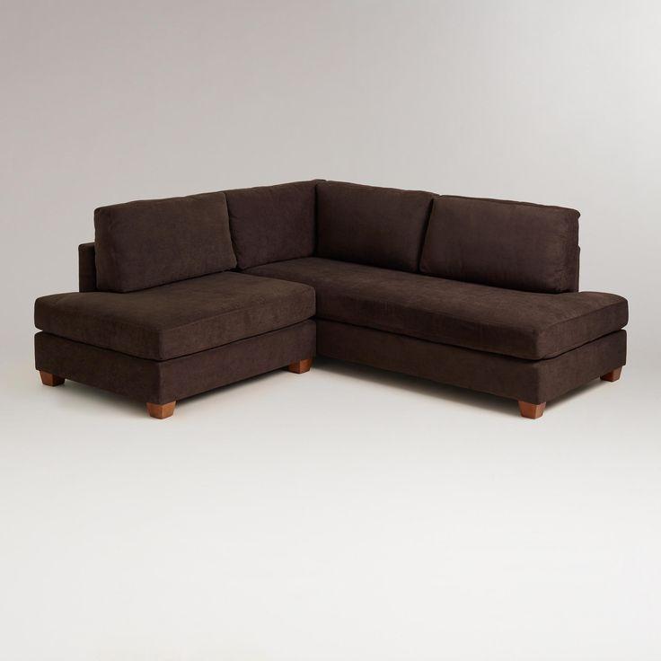 Chocolate Wyatt Sectional Sofa   World Market