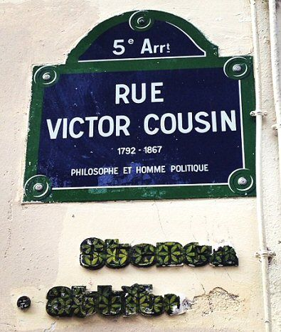 La rue Victor-Cousin  (Paris 5ème)